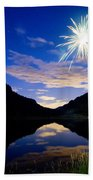 Rollinsville Yacht Club Fireworks Private Show 52 Beach Towel