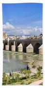 Roman Bridge In Cordoba Beach Sheet