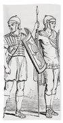 Roman Infantry Soldiers, After Figures On Trajans Column.  From The Imperial Bible Dictionary Beach Towel
