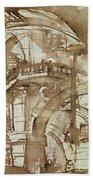 Roman Prison Beach Towel by Giovanni Battista Piranesi