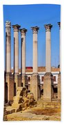 Roman Temple In Cordoba Beach Towel