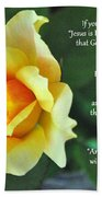 Romans Yellow Rose Beach Towel