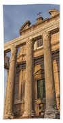 Rome Temple Of Antoninus And Faustina 01 Beach Towel