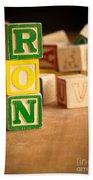 Ron - Alphabet Blocks Beach Towel