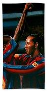 Ronaldinho And Eto'o Beach Towel