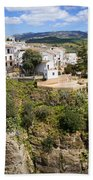 Ronda Houses On A Rock Beach Towel
