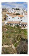 Ronda Old City In Spain Beach Towel