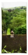 Roof Tops In Countryside Scenery With Trees - Peak District - England Beach Towel