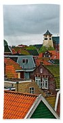 Rooftops From Our Host's Apartment In Enkhuizen-netherlands Beach Towel