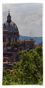 Rooftops Of Rome Beach Towel