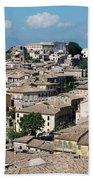 Rooftops Of The Italian City Beach Towel