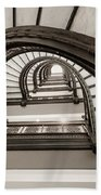 Rookery Building Off Center Oriel Staircase Beach Towel