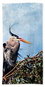 Rookery Great Blue Beach Towel