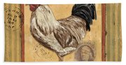 Rooster And Stripes Beach Towel
