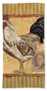 Rooster And Stripes Beach Sheet