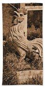 Rooster At The Big Chicken Barn Beach Towel