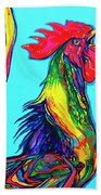Rooster Crow Beach Towel