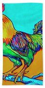 Rooster Perch Beach Towel