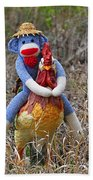 Rooster Rider Beach Towel