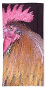 Rooster Watercolor Beach Towel