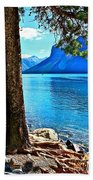 Rooted In Lake Minnewanka Beach Towel