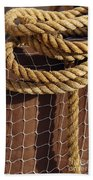 Rope And Net Beach Towel