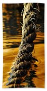 Rope On Liquid Gold Beach Towel