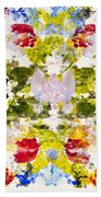 Rorschach Test Beach Towel