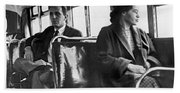 Rosa Parks On Bus Beach Towel