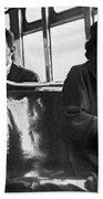 Rosa Parks On Bus Beach Sheet