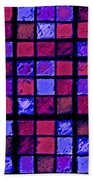 Rose And Purple Sudoku Beach Towel