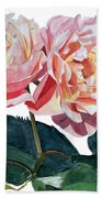 Pink And Yellow Rose Anne Beach Towel