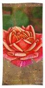 Rose Blank Greeting Card Beach Towel