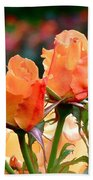 Rose Bunch Beach Towel by Rona Black