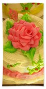 Rose Cakes Beach Towel