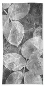 Rose Clippings Mural Wall 2 - Black And White Beach Towel