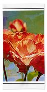 Rose Colours Beach Towel