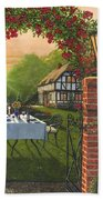 Rose Cottage - Dinner For Two Beach Sheet