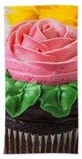 Rose Cupcake Beach Towel