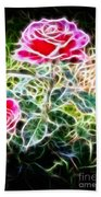 Rose Expressive Brushstrokes Beach Towel