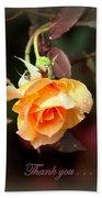 Rose - Flower - Card Beach Towel