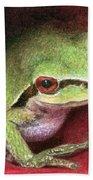 Rose Frog Beach Towel