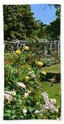 Rose Garden And Trellis Beach Towel