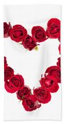 Rose Heart Beach Towel