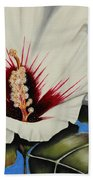 Rose Of Sharon Beach Towel by Karen Beasley