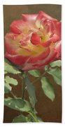 Rose On Thornridge Road Beach Towel