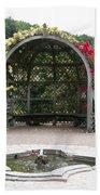Rose Pavilion At Chateau Villandry Beach Towel