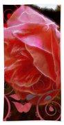 Rose Rose And Rose Beach Towel