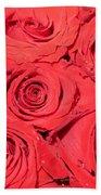Rose Swirls Beach Towel
