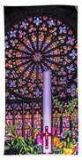 Rose Window Of St Vincent Beach Towel